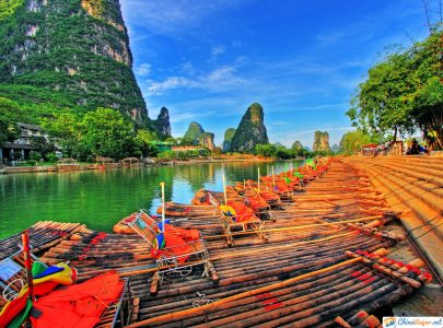 balsa y cruceros por el rio li